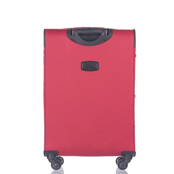 Moderní cestovní kufry PARMA - červené
