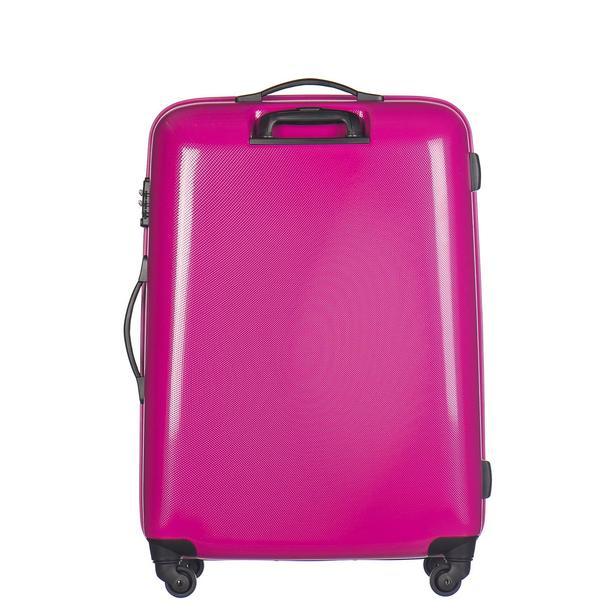 Moderní cestovní kufry VOYAGER - růžové