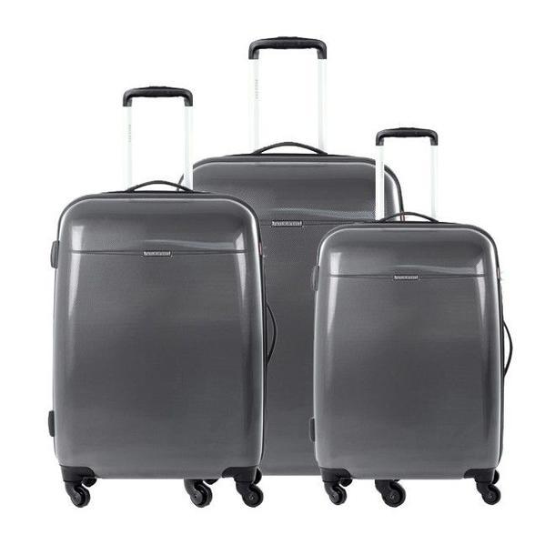 Moderní cestovní kufry VOYAGER - antracit