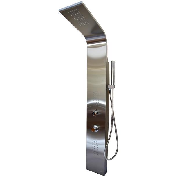 Sprchový panel s termostatem COBRA 2 - stříbrný