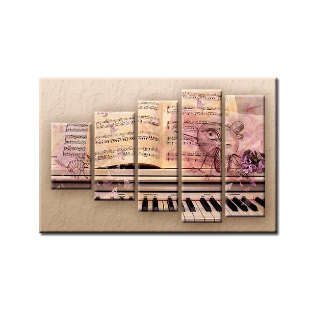 PĚTIDÍLNÝ OBRAZ na plátně MUSIC - vzor 15