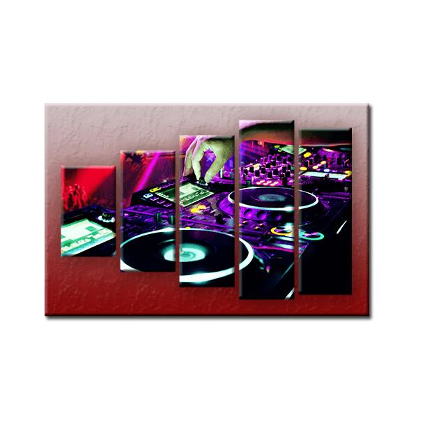 PĚTIDÍLNÝ OBRAZ na plátně MUSIC - vzor 22