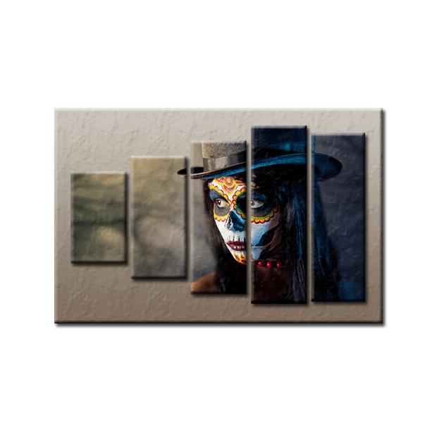 PĚTIDÍLNÝ OBRAZ na plátně FACE - vzor 39