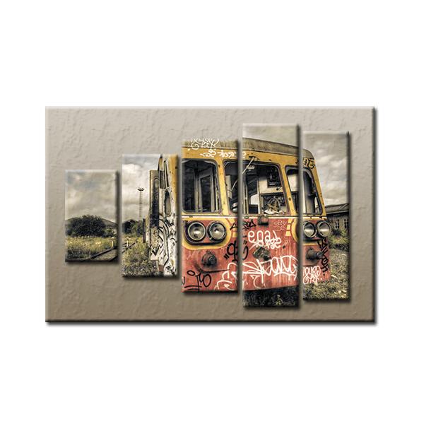 PĚTIDÍLNÝ OBRAZ na plátně TRAIN - vzor 46
