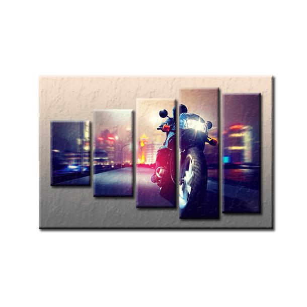 PĚTIDÍLNÝ OBRAZ na plátně MOTORBIKE - vzor 47