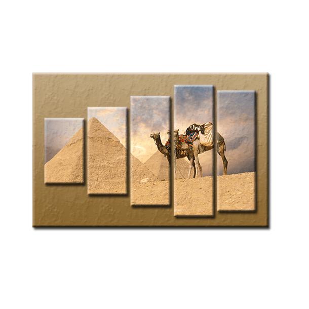 PĚTIDÍLNÝ OBRAZ na plátně PYRAMIDA - vzor 56