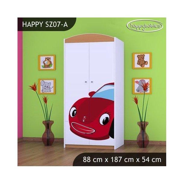 Dětská skříň RED CAR - TYP 7B