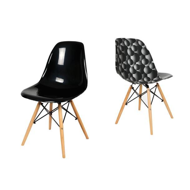 kuchyňská designová židle řady MODELINO - černá s bublinami 1