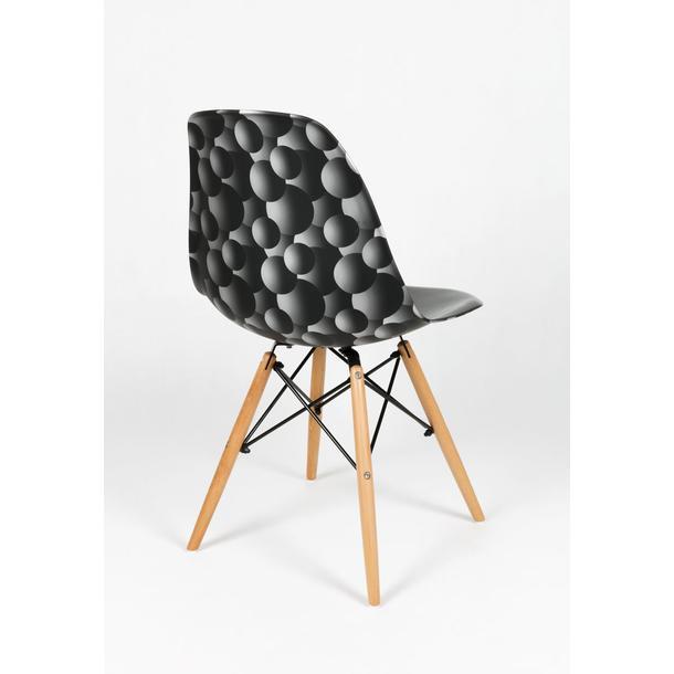 kuchyňská designová židle řady MODELINO - černá s bublinami 2