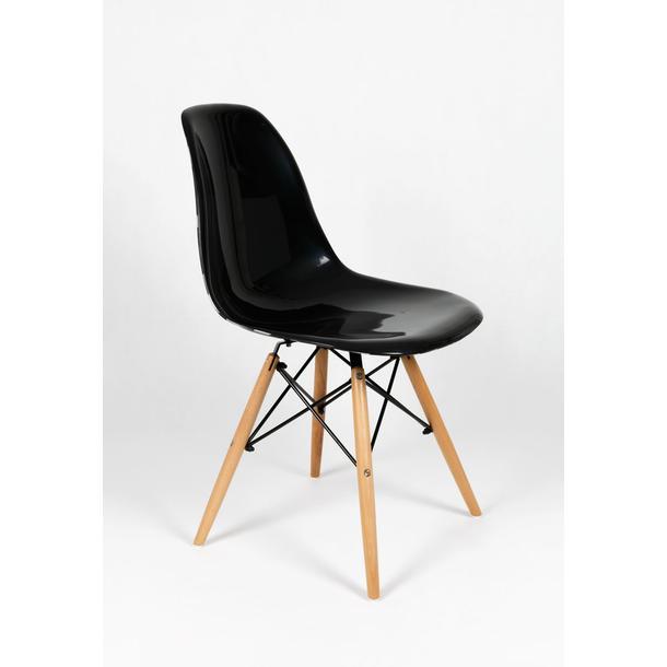 kuchyňská designová židle řady MODELINO - černá s bublinami 3
