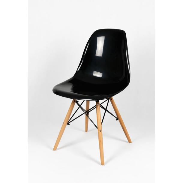 kuchyňská designová židle řady MODELINO - černá s bublinami 4
