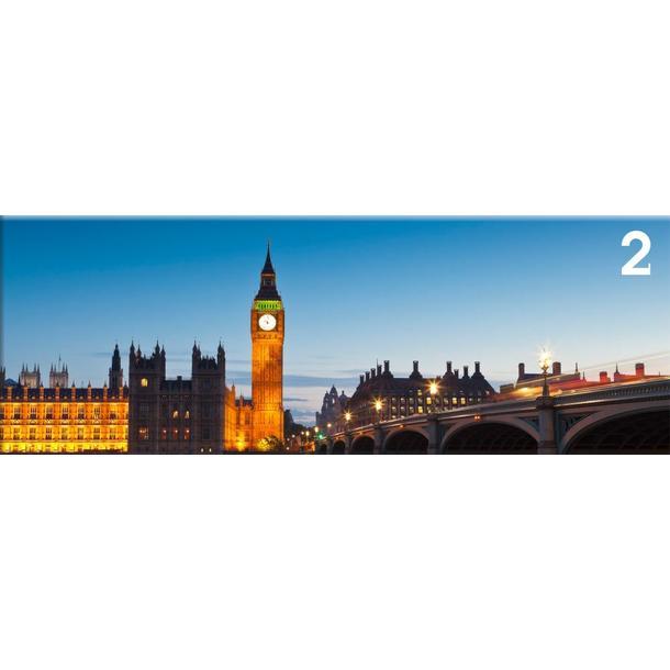 Obraz na plátně PANORAMA LONDON -  vzor 2