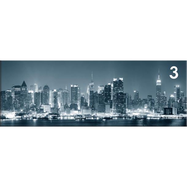 Obraz na plátně PANORAMA NIGHT CITY -  vzor 3