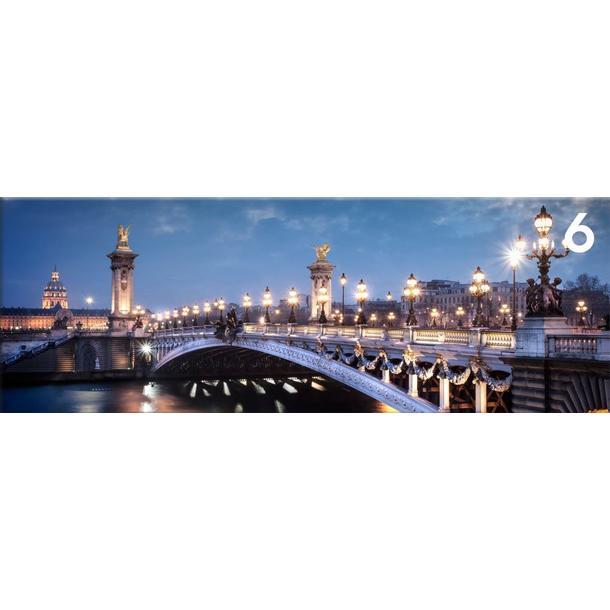 Obraz na plátně PANORAMA NIGHT BRIDGE-  vzor 6