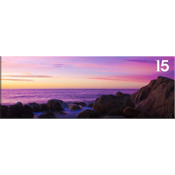 Obraz na plátně PANORAMA PURPLE SEA -  vzor 15
