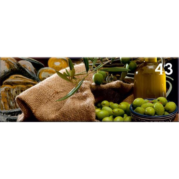 Obraz na plátně PANORAMA OLIVE -  vzor 43