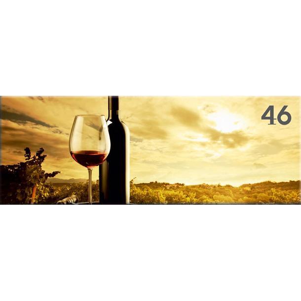 Obraz na plátně PANORAMA WINE -  vzor 46