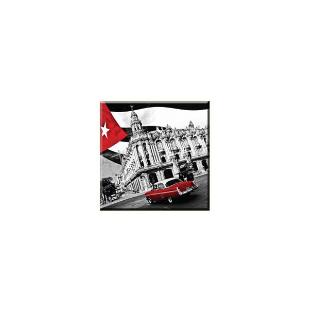 Obraz na plátně 30x30cm RED CAR - vzor 52
