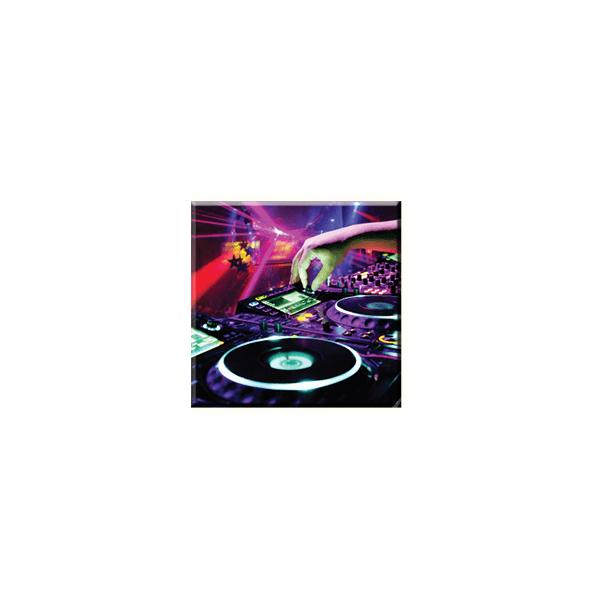 Obraz na plátně 30x30cm MUSIC - vzor 55