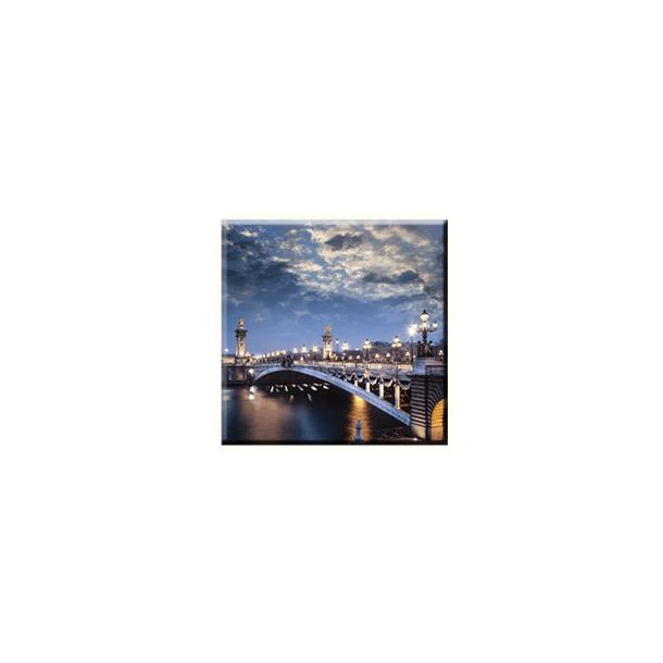 Obraz na plátně 30x30cm NIGHT BRIDGE - vzor 81