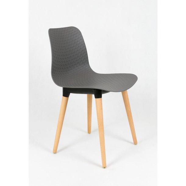 Designová židle PALERMO - šedá - TYP B