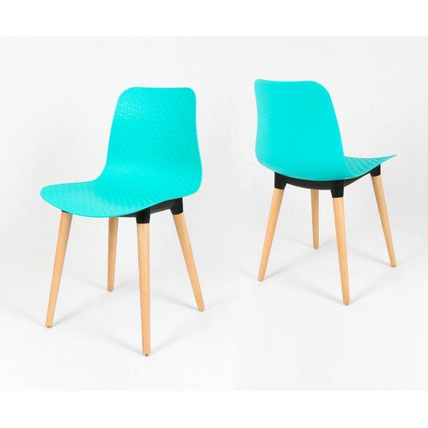 Designová židle PALERMO - tyrkysová - TYP B