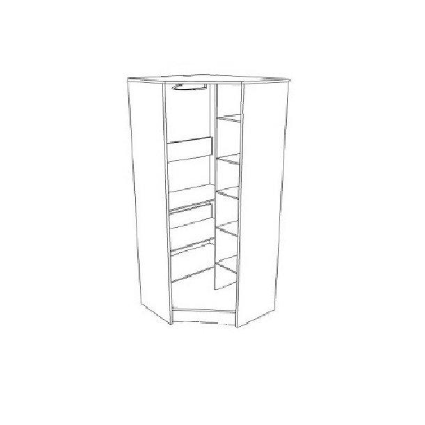 Šatní skříň NORDI - TYP D