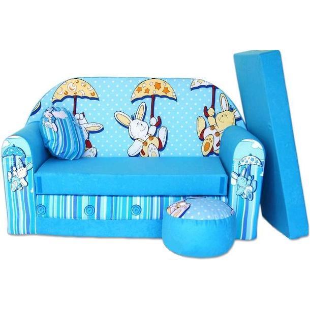 Dětská pohovka Modrý králíček - Dětské pohovky
