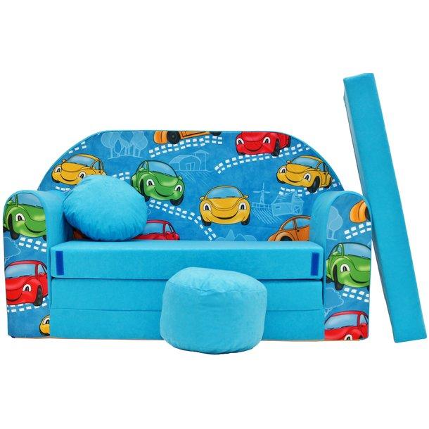 Dětská pohovka Blue cars