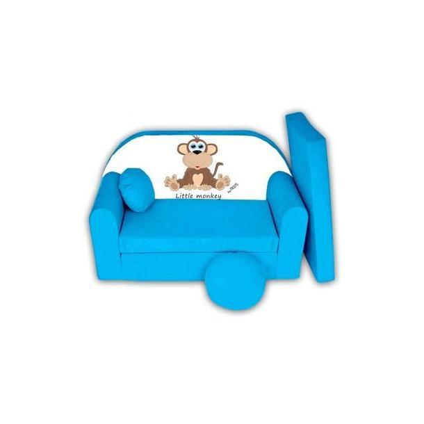Dětská pohovka Little Monkey - modrá
