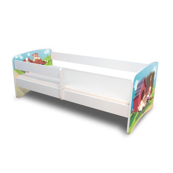 Dětská postel 160x70 cm - PEJSEK A KOČIČKA II.