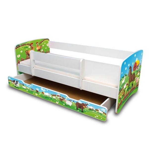 Dětská postel se šuplíkem 160x70 cm - FARMA