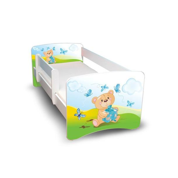 Dětská postel - Medvídek s dárečkem II.