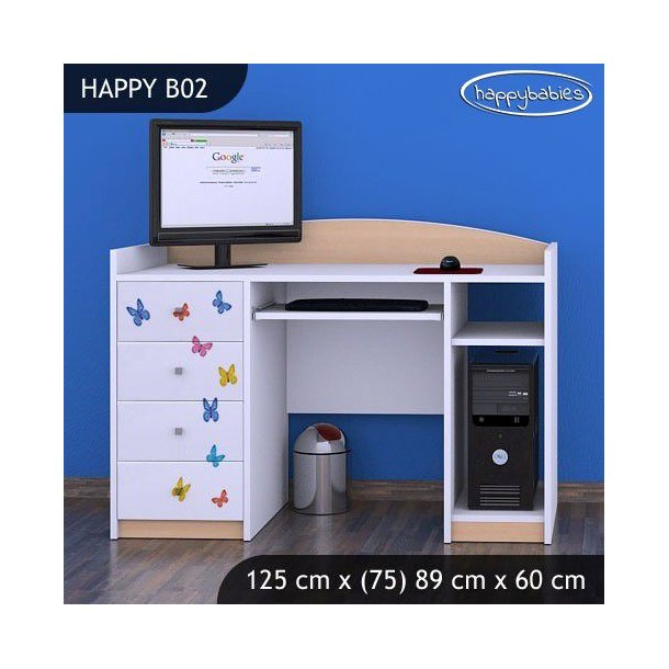 Dětský psací stůl SLON A MOTÝLCI - TYP 2
