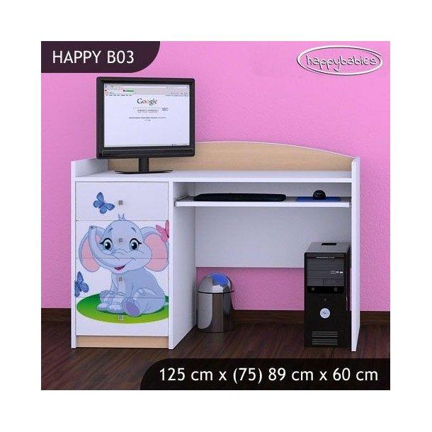 Dětský psací stůl SLON A MOTÝLCI - TYP 3