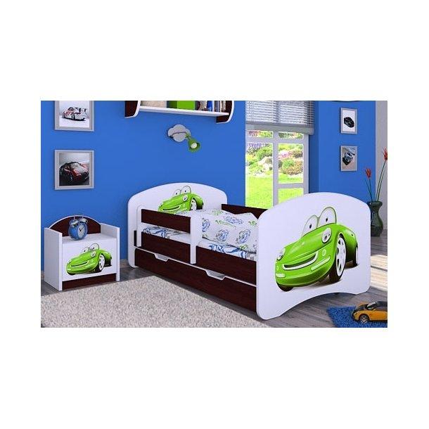 Dětská postel se šuplíkem 160x80cm ZELENÉ AUTO