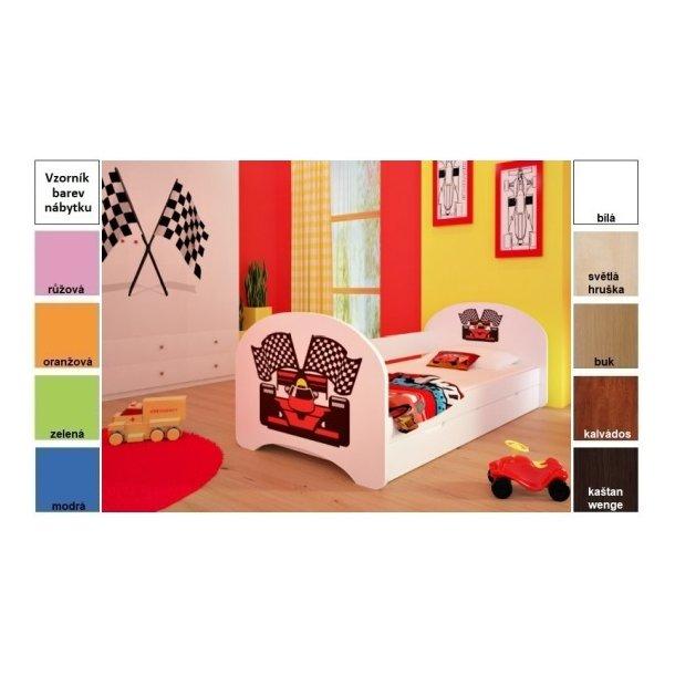 Dětská postel pro DVA (s výsuvným lůžkem) 200x90 cm - FERRARI