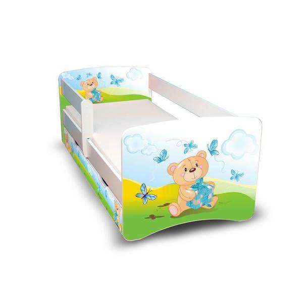 Dětská postel se šuplíkem - MEDVÍDEK S DÁREČKEM II