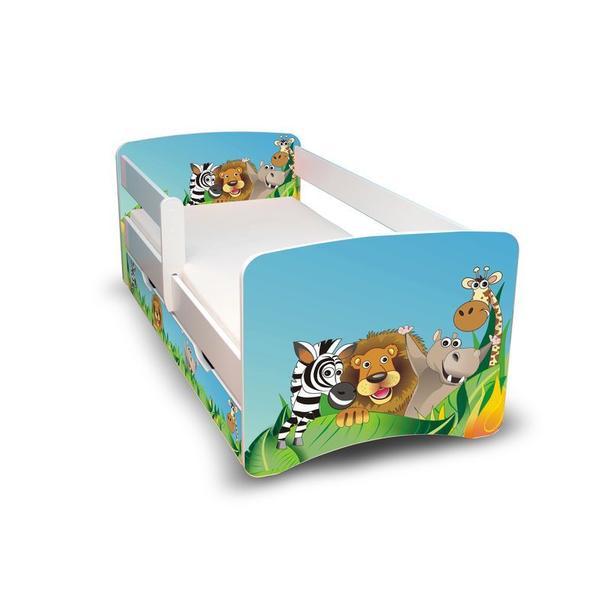 Dětská postel se šuplíkem - ZOO II