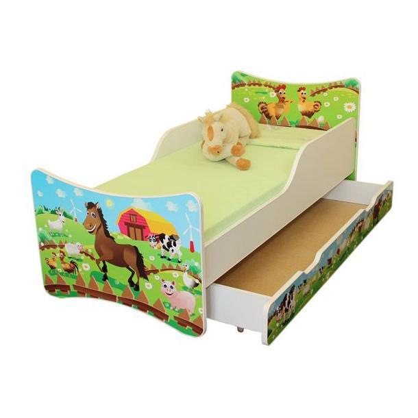 Dětská postel s krásným motivem a šuplíkem