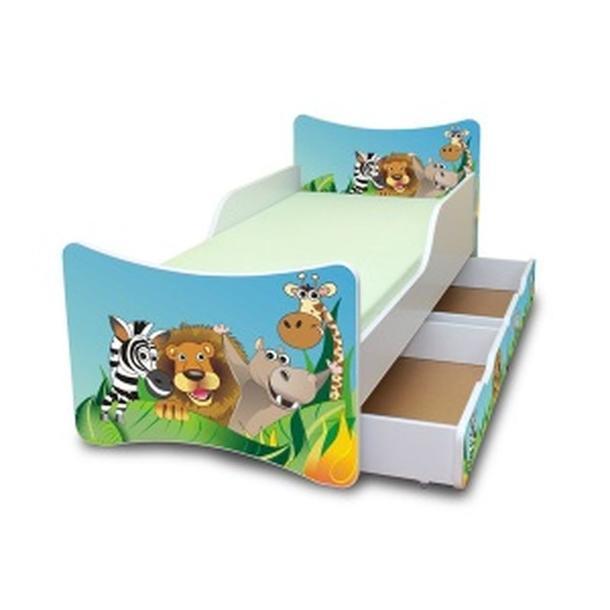 Dětská postel se šuplíkem 160x70 cm - ZOO