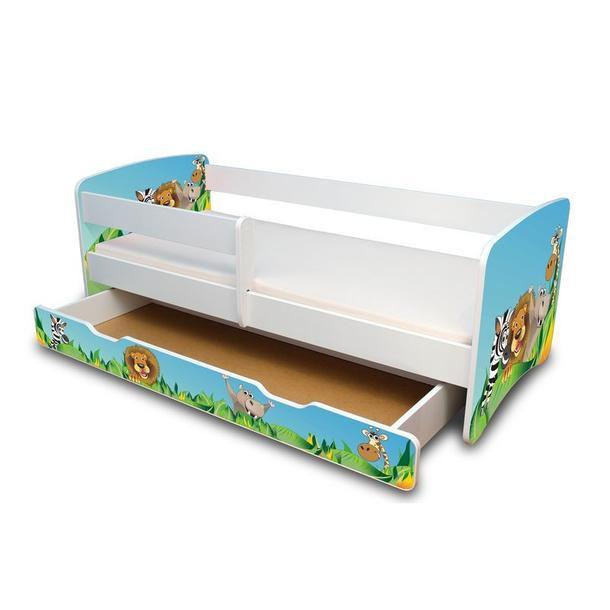 Dětská postel se šuplíkem 160x70 cm - ZOO II.
