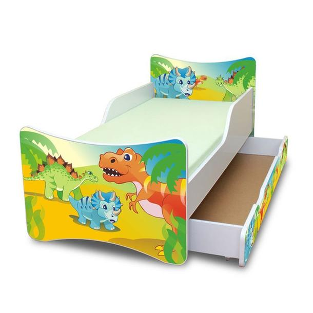 Dětská postel se šuplíkem - DINO