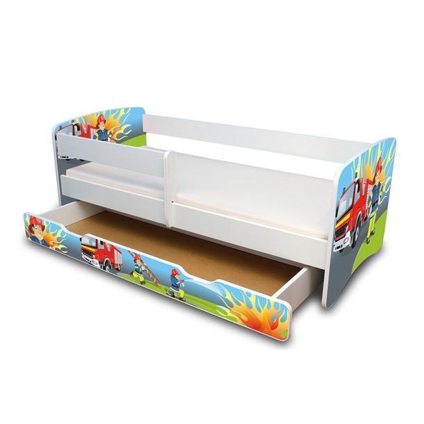 Dětská postel se šuplíkem 160x70 cm - HASIČ II.