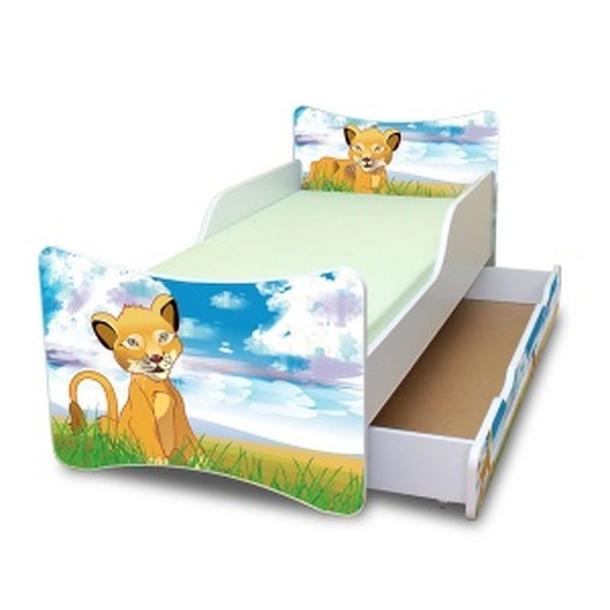 Dětská postel se šuplíkem 160x70 cm - LVÍČEK