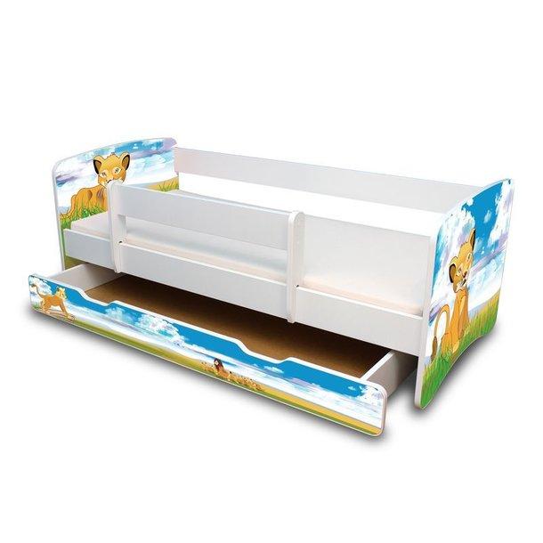 Dětská postel se šuplíkem 160x70 cm - LVÍČEK II.