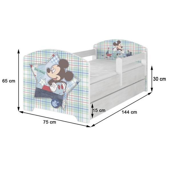 Dětská postel Disney MICKEY MOUSE 140x70 cm