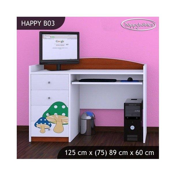 Dětský psací stůl RŮŽOVÝ HŘÍBEK - TYP 3