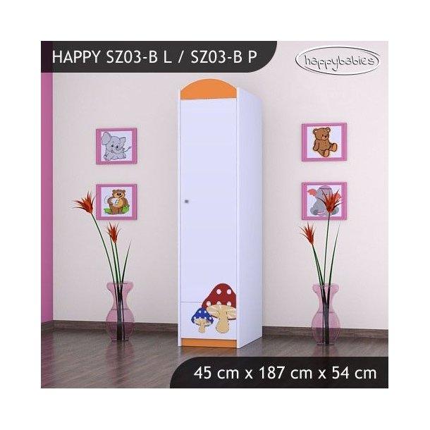 Dětská skříň RŮŽOVÝ HŘÍBEK - TYP 3B