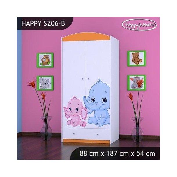 Dětská skříň SLONÍCI - TYP 6B